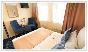 Каюта полулюкс балкон широкая кровать
